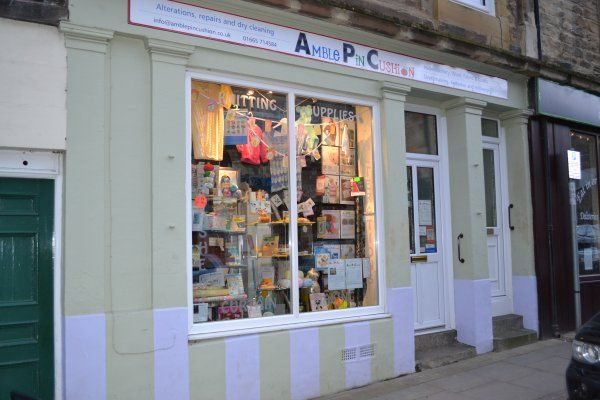 Amble Pin Cushion shop front