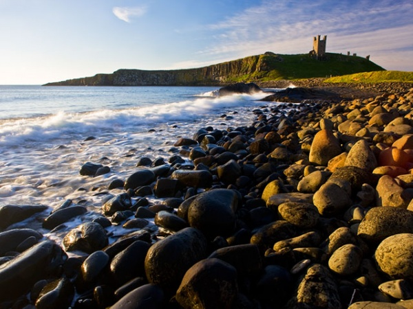 Dunstanburgh Castle from the shore