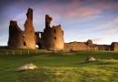 Outside Dunstanburgh Castle