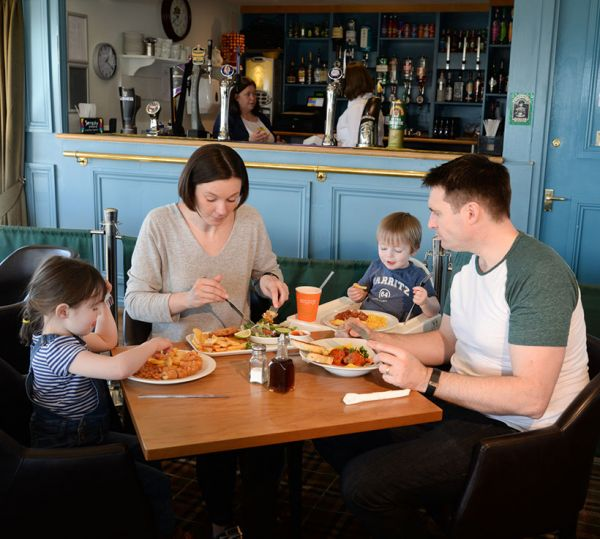 Family dining fully catered for