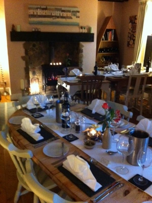 our bistro on a cosy winter evening